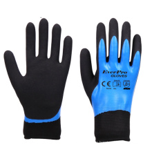 Good Grip In Wet Oil Resistant And Water Resistant Nylon/ Polyester With Fully Sandy Nitrile Coated Gloves