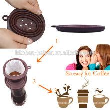 Filtro de café titular / Silicone café Dripper / filtro de café de silicone para camping, escola, caminhadas, mochila e uso ao ar livre