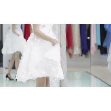 Vente chaude et pas cher prix rose clair robe de soirée des tissus court design au-dessus du genou longueur robe de soirée 2017 avec col sweetheart