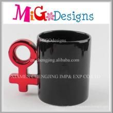 Tazas de café de cerámica negras esmaltadas hechas a mano del OEM