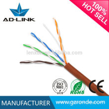 Cabo de alta fidelidade 350MHz Cat 5 Ethernet Twisted Pair