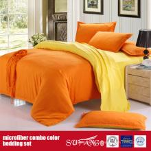 90GSM housse de couette en microfibre confortable couleur unie