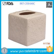 Ceramic Fashion Tissue Box Pink Blossomy Pattern Home Decor
