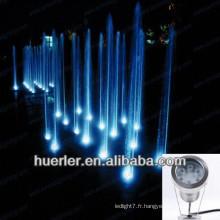 2013 vente chaude 9w 12w ip68 RGB conduit lumière sous-marine, pompe à eau pompe