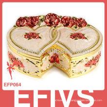 Tradicional espelho caixa de jóias decorativas por atacado para anéis
