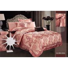 4PCS Luxo Brilhante cama Queen Set conjunto de folhas Fornecedor China