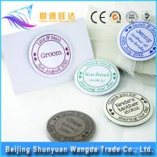 Custom Die Casting magnético Metal Name Badge Pin para Badge