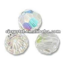 6MM Facettierte runde Glasperlen, Glasperlen für Kronleuchter, neue DIY lose Glas runde Korne