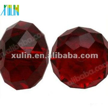 Grânulos de vidro de cristal chinês 5040 # Rondelle lapidado 10mm RUBY AB