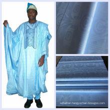 Blue Color Cotton Damask African Fabric Guinea Brocade Shadda Wholesale Nigeria Jacquard Bazin Riche Free Shipping