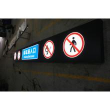 Signage direcional acrílico do diodo emissor de luz do teto do parque de estacionamento