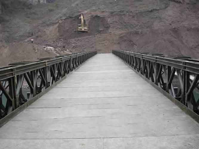 Temporary Bailey Bridge Structure