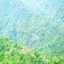 Torre de transmisión de potencia galvanizada de ángulo de esquina de 220 kV