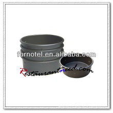 Bandeja redonda anodizada dura de la torta de la aleación de aluminio V373