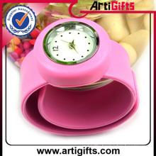 Manufactory production cheap sport silicone slap bracelet wrist watch band