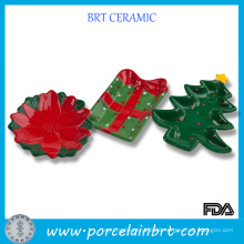 New Product Christmas Decoration Ceramic Candy Dish