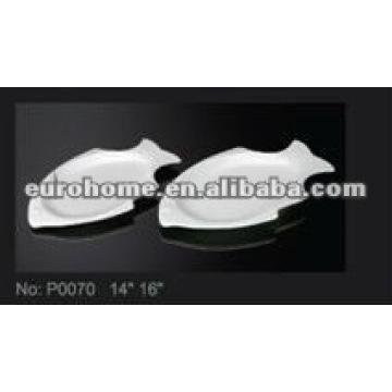 Porcelana forma de pescado snack platos -guangzhou eurohome P0070