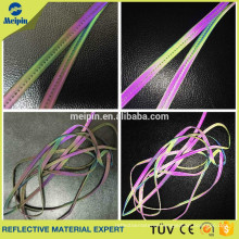 High Visibility Good Quality Rainbow Silver Elastic Reflective Piping Tips for Clothing and Bags