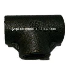 Black Plain Galvanized Tee Malleable Iron Pipe Fittings