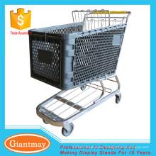tienda de comestibles con ruedas de mango carrito de carrito de plástico