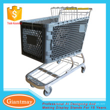 grocery store with handle wheels plastic trolley cart