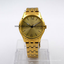 Лучшие позолоченный браслет из нержавеющей стали наручные часы для мужчины и женщины