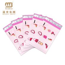 Sacs de Polymailer d'enveloppe en plastique imprimés par couleur de conception personnelle faite sur commande forte écologique de rose de Polymailer