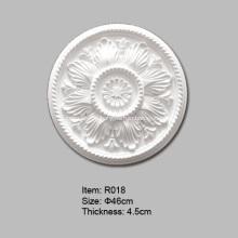 Круглая потолочная роза из полиуретана