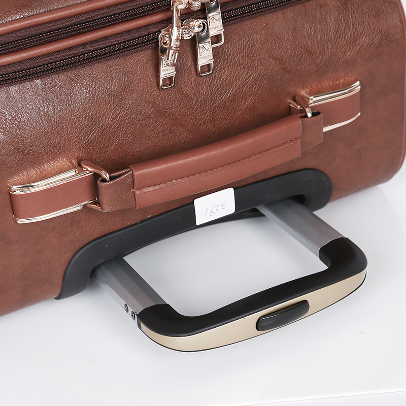 Customized PU travel business luggage set4