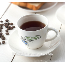 KC-03000decal tea cup with saucer,beautiful coffee cup