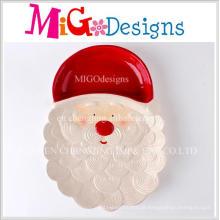 Criativo novo Design Natal Santa cerâmica jantar prato e placa