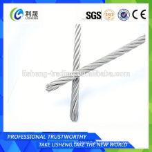 6x7 6x19 6x37 Etc Cuerdas de alambre de acero sin galvanizar