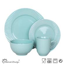 16PCS en relieve de cerámica gres cena conjunto alta calidad