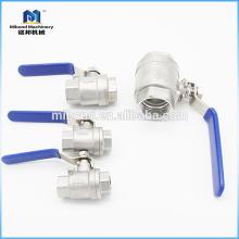 Livraison rapide en acier inoxydable 1 pc robinet à tournant sphérique