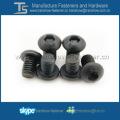 Parafuso de cabeça de botão de tomada hexagonal de zinco preto