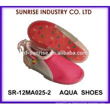 SR-12MA025-2 La playa suave de la playa de las muchachas agradables de TPR calza la playa plástica de los zapatos de la aguamarina calza los zapatos que practican surf de la playa