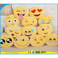 Hot Selling de alta calidad encantadora Emoji Emoticon expresión facial almohada de peluche