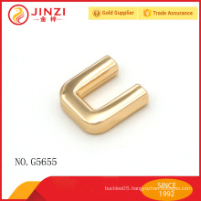 Golden handbag metal trim for handbag decorative metal