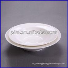 Fábrica de porcelana P & T, placa de sopa de salada, placas profundas redondas