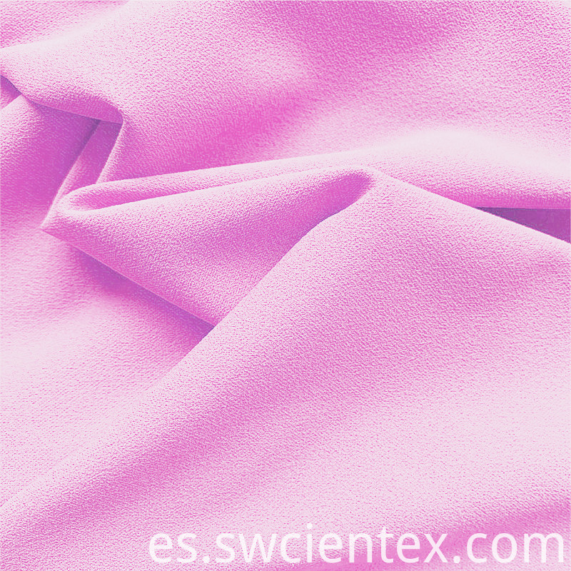 Baby Pink Polyester Dty Clothing Stretch Fabric