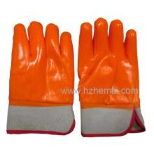 3 couches gants en PVC fluorescents immergés isolés industrie gant de travail