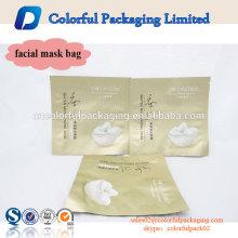 A venda superior matt terminou saco feito sob encomenda plástico personalizado do malote da folha de alumínio para a máscara facial