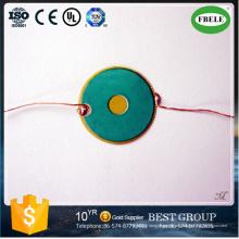 Zumbador de cerámica piezoeléctrico por encargo del proveedor de China con el alambre