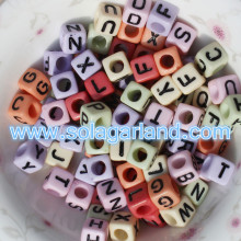 6x6MM Alphabet/Letter Square Cube Beads Jewerlry Making Letter Beads