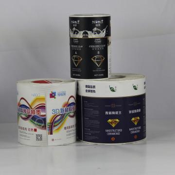 Farbe gedruckter Kleber Aufkleber Aufkleber für Verpackung