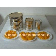 820 г / 460 г Консервированные желтые персики Половинки в л / с