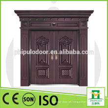 Puerta de cobre del chalet de la buena calidad de la prueba del sol con la pintura al óleo