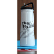 Botella de agua para deportes al aire libre de una sola pared de acero inoxidable