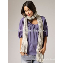 100%WOOL KNITTED SCARF