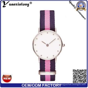 Yxl-617 Dw Art kundenspezifische Uhren Großhandelsjapan Movt Diamant-Quarz-Edelstahl-rückseitige wasserbeständige Uhr